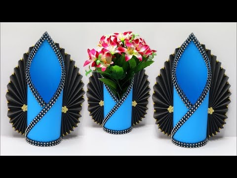 HOW TO MAKE A PAPER NAPKIN HOLDER   Making Paper Flower Vase   DIY Simple Paper Crafts