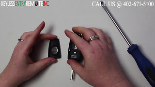 how to replace audi a3 key fob battery 2006 2007 2008 2009 2010