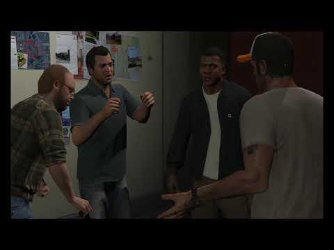 Grand Theft Auto V Single Player...Part 28....The Big Gold Heist Setup