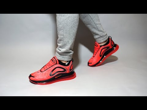 Nike Air Max 720 Night Maroon Ember Glow Ao2924 600 On Feet Youtube