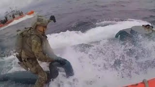 Officer Jumps on Submarine to Bust Alleged Drug Smugglers