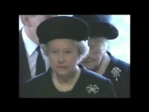 Queen & Queen Mother Arrive At Funeral Of Diana Princess Of Wales 1997