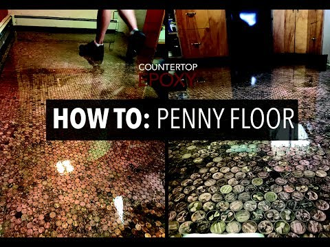 How To: Penny Floor with Epoxy