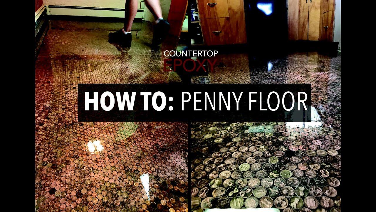 How To Penny Floor With Epoxy Youtube