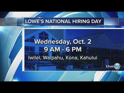 Lowe's National Hiring Day