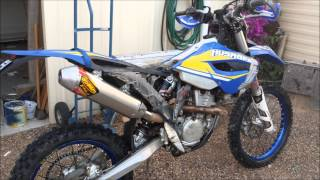 husaberg fe 350 with fmf 4 1
