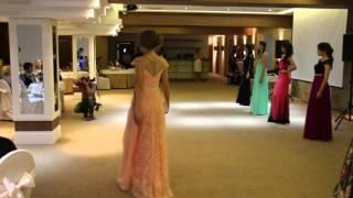 Показ вечерних нарядов от бутика свадебного и вечернего платья Плюмаж-Л