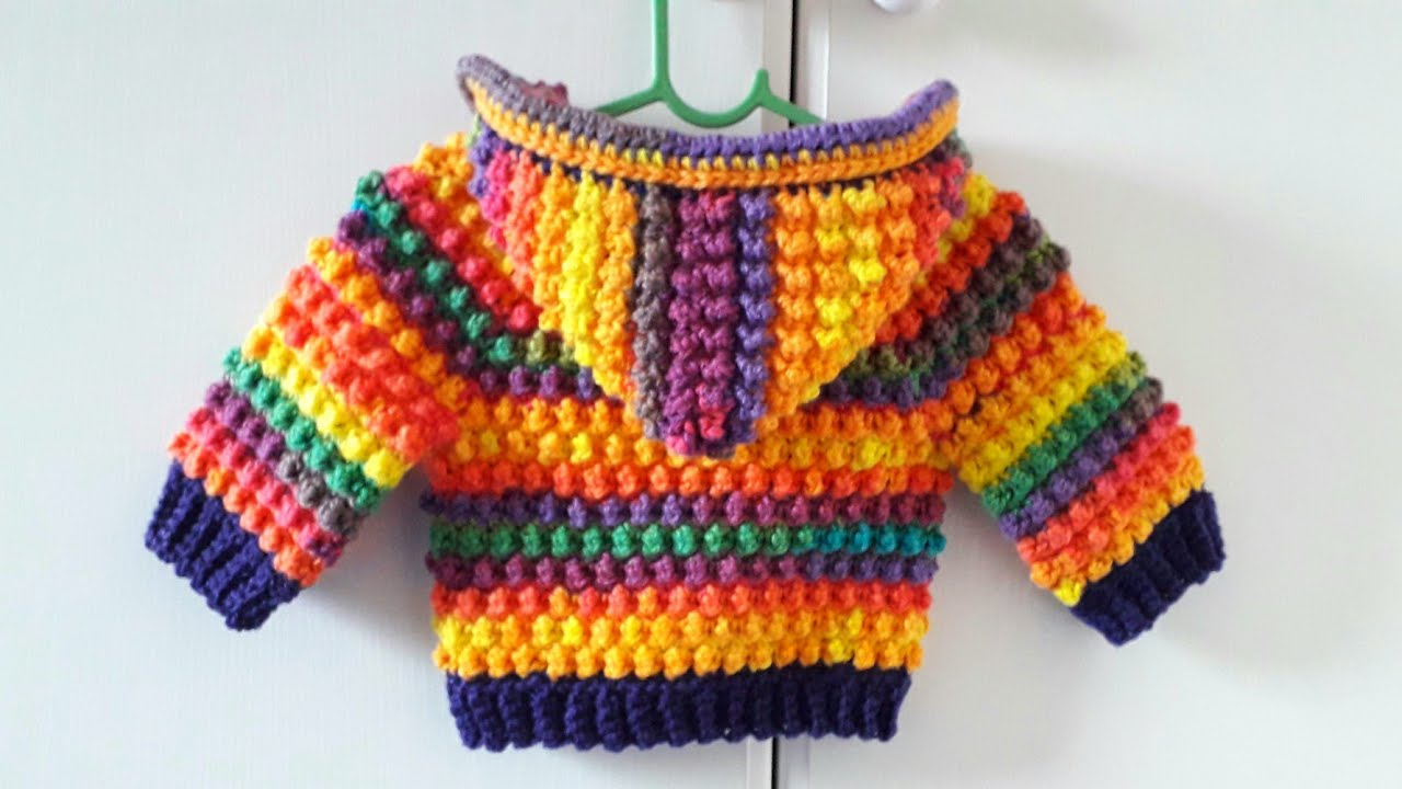 "Crochet #21 How to crochet baby hoodie "" Goosebumps """