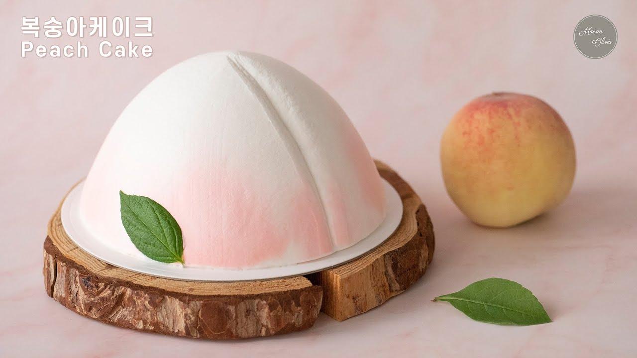 K- 복숭아케이크 [ Peach Cake ] 사랑스러운 복숭아 아이싱