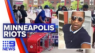 Riots after death of unarmed man in the US | Nine News Australia
