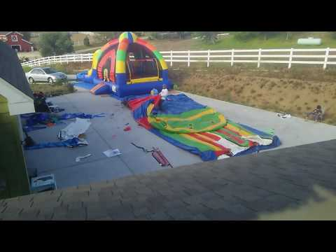 Raw video - SAMSON inflatable rolling machine start to finish