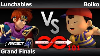 IaB! 101 - FX | Lunchables (Roy, Marth) vs FS | Boiko (Ness) Grand Finals - PM