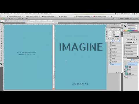 Make A Book Cover With Photoshop For KDP Using PDF Template