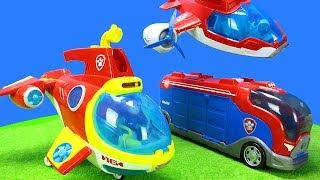 Paw Patrol Spielzeug Unboxing Für Kinder Mit Polizei Und Feuerwehrauto Stationen
