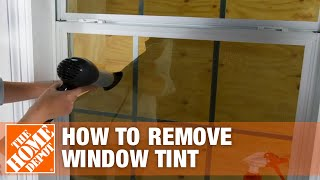 How to Remove Wiฑdow Tint   The Home Depot