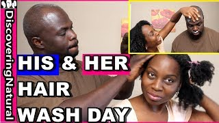 Natural Hair Wash Day with Husband | Product Review