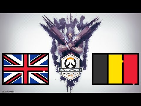 United Kingdom vs Belgium (Part 1) | Overwatch World Cup 2017 - Santa Monica