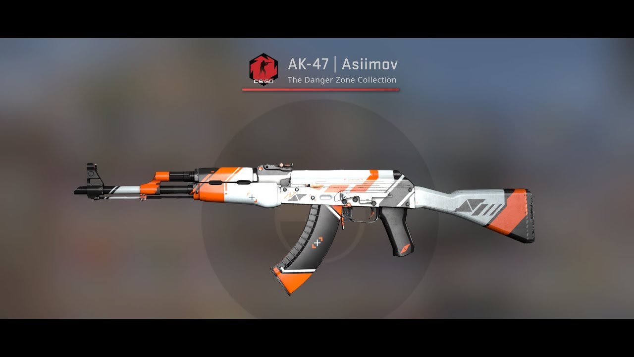 CSGO: AK47 Asiimov Field Tested gameplay! - YouTube
