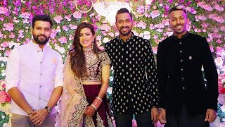 Hardik Pandya's Brother Krunal Pandya Reception Ceremony