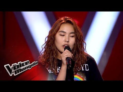 "Enguun.Ts - ""Runnin"" - Blind Audition - The Voice of Mongolia 2018"
