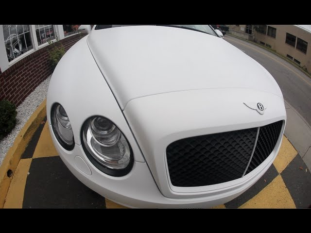 Bow Wow Goes To Pick Up New Custom Matte White Bentley