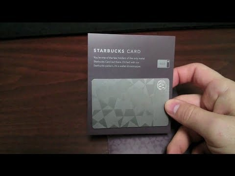 Limited Edition Metal Starbucks Giftcard Unboxing - YouTube