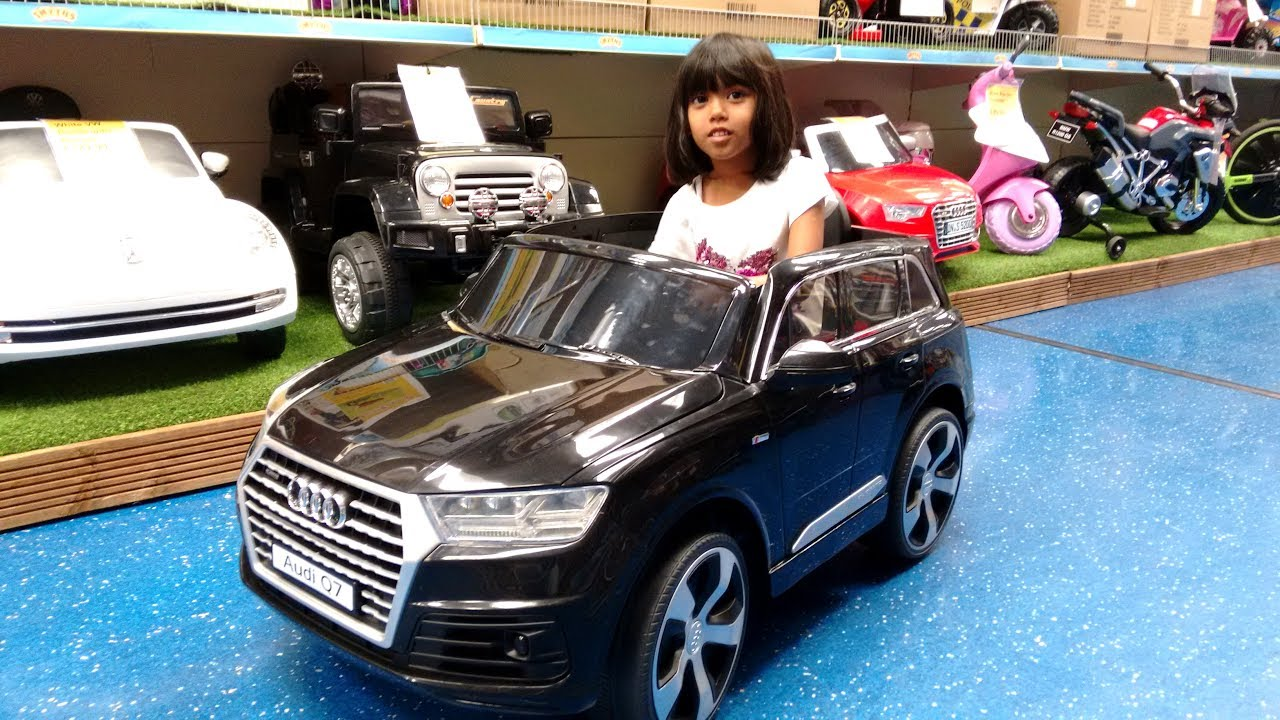 Little Playing With Ride On Cars At Smyths Toy Wheels Audi Ferrari Digger Truck