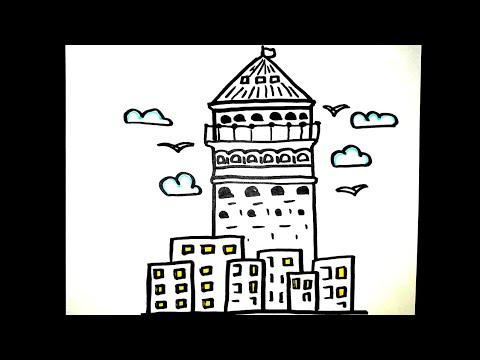 Nasıl Çizilir? - Eyfel Kulesi - Resim Çizme - ÇİZİM OKULU
