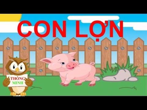Tiếng kêu của động vật | dạy bé học đọc và nói con vật bằng tiếng việt | dạy trẻ thông minh sớm 1