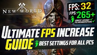 🔧 NEW WORLD: Dramaтically increase performance / FPS with any setup! *Best Settings* 📈✅