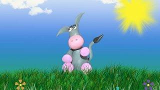 ослик для детей - урок 4 лепим ослика из пластилина, обучающие уроки лепки для детей и родителей