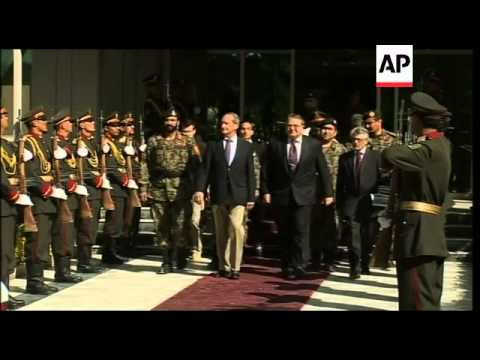 French def minister meets Afghan counterpart Rahim Wardak