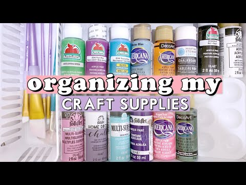 ORGANIZING MY CRAFT SUPPLIES! (Craft Room Makeover Pt. 1) || Actually Alli