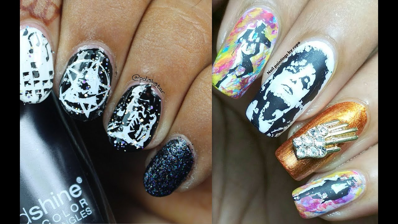Michael Jackson Tribute Nail Art Collab Nail Painting By Rupa