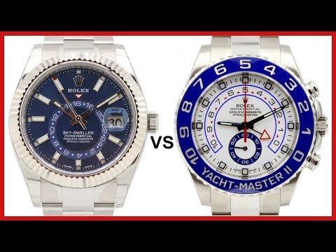 ▶ Rolex Sky-Dweller Fluted White Gold, Blue Dial VS Yacht-Master II Regatta Chronograph - COMPARISON