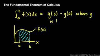 Calculus - The Fundamental Theorem, Part 1