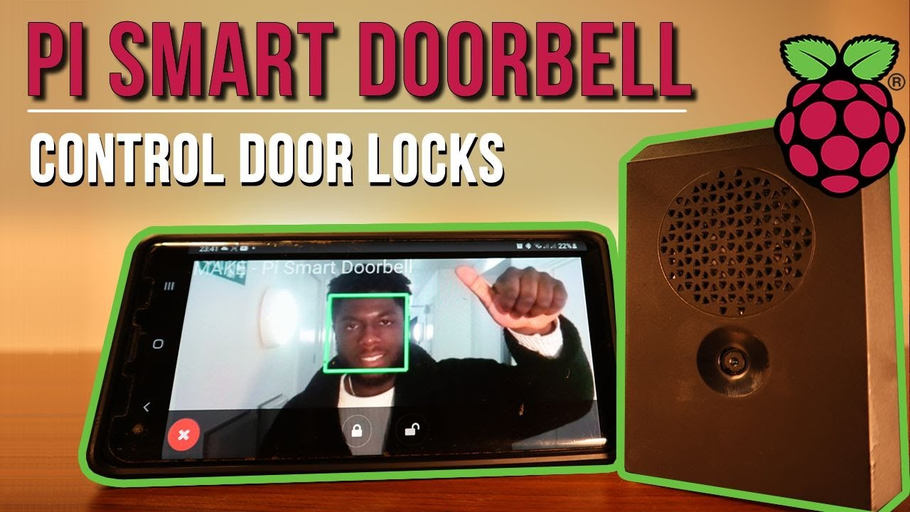 How To Make A DIY Ring Doorbell - Remote Front Door Camera and Lock With Rasbperry Pi