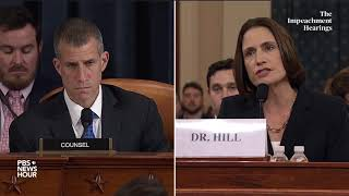 WATCH: Hill disputes that she questioned Vindman's 'overall judgment' | Trump impeachment hearing