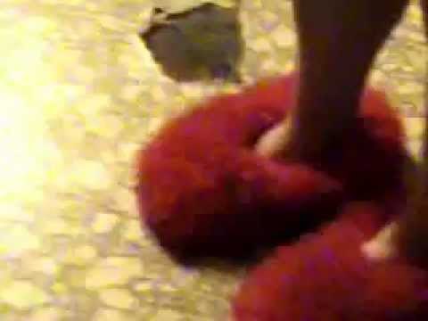 a7613dd2878 Classic Red Furry Slippers - YouTube
