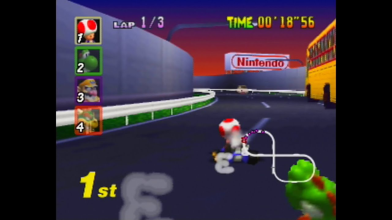 Mario Kart 64 Toad S Turnpike N64 Youtube