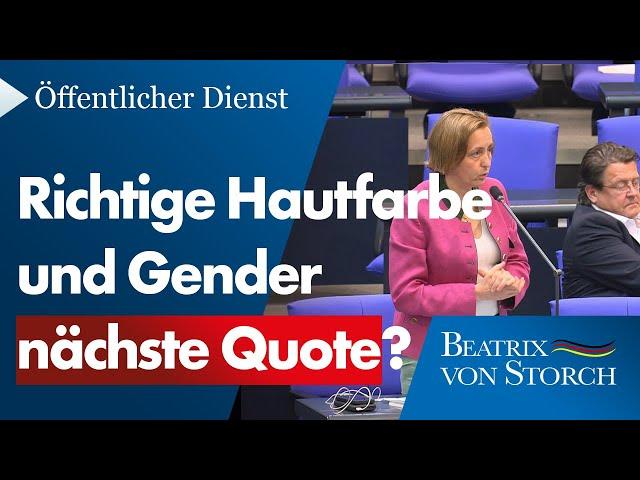 Beatrix von Storch (AfD) - Der Quotenwahnsinn geht in die nächste Runde!