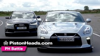 2017 Nissan GT-R vs Audi RS6 Avant Performance | PH Battle | PistonHeads