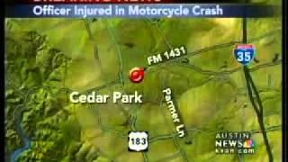 Officer injured in Cedar Park crash