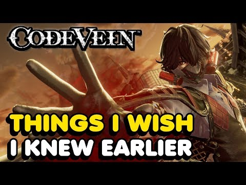 Things I Wish I Knew Earlier In Code Vein (Tips & Tricks)