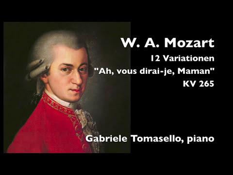 Mozart twinkle twinkle little star 12 variations piano