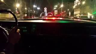Покатушки по ночной Москве на Волге газ 24.
