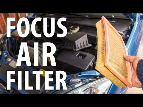 Simple how-to: Replace engine air filter, Ford Focus
