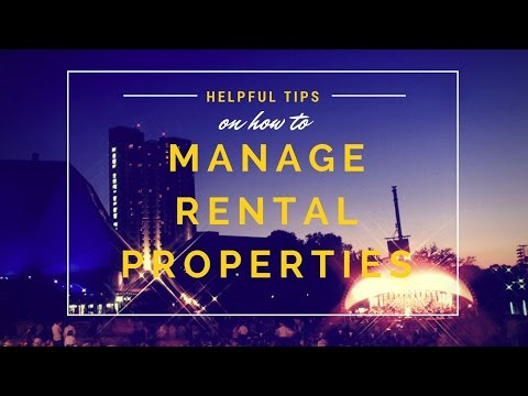 Helpful Tips On How To Manage Your Rental Properties From Dave Payerchin