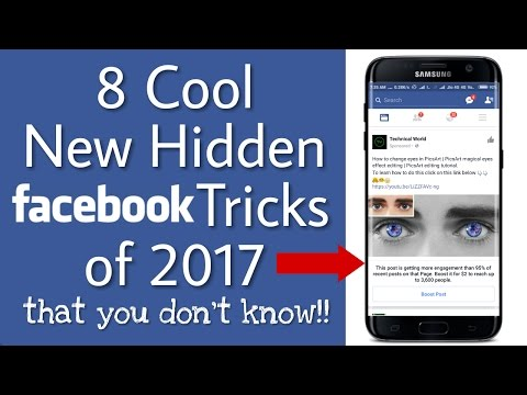 Top 8 cool new hidden Facebook Tricks 2017 | Facebook hacks that you don't know!!