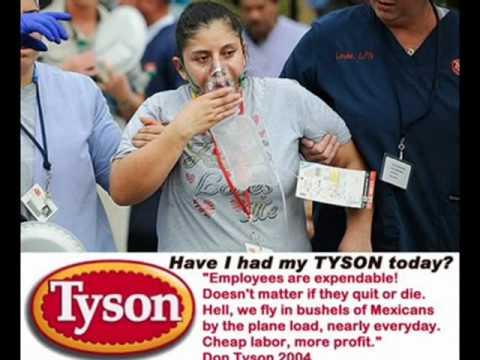 Tyson Foods Kills more than Chickens-Tyson Kills Employees Too!